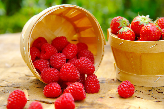 Fresh whole Raspberries