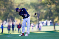 Ricky Fowler (Team USA) on the 6th fairway during the Saturday morning Foursomes at the Ryder Cup, Hazeltine national Golf Club, Chaska, Minnesota, USA.  01/10/2016<br /> Picture: Golffile | Fran Caffrey<br /> <br /> <br /> All photo usage must carry mandatory copyright credit (&copy; Golffile | Fran Caffrey)