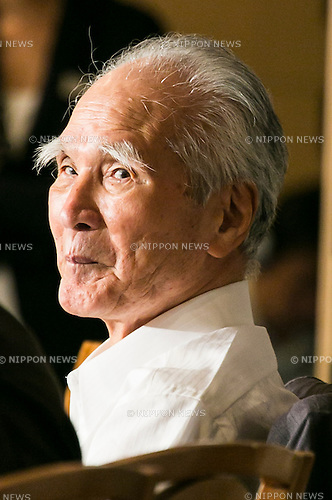 Tomiichi Murayama, former Prime Minister of Japan, attends a press conference at the Foreign Correspondents' Club of Japan on July 29, 2015, Tokyo, Japan. Muyarama, who was Prime Minister from 1994 to 1996 gave a speech marking 50 years since the end of World War II in 1995. At that time he apologized for Japan's actions during the War and said that the country must ''eliminate self-righteous nationalism.'' Next month, current Japanese Prime Minister Shinzo Abe is set to make a statement to mark the 70th anniversary of the end of the War and to express gratitude to the international community for accepting Japan after the war. The prime minister is also expected to express remorse for Japan's actions in the upcoming statement although the exact language has not yet been released. (Photo by Rodrigo Reyes Marin/AFLO)