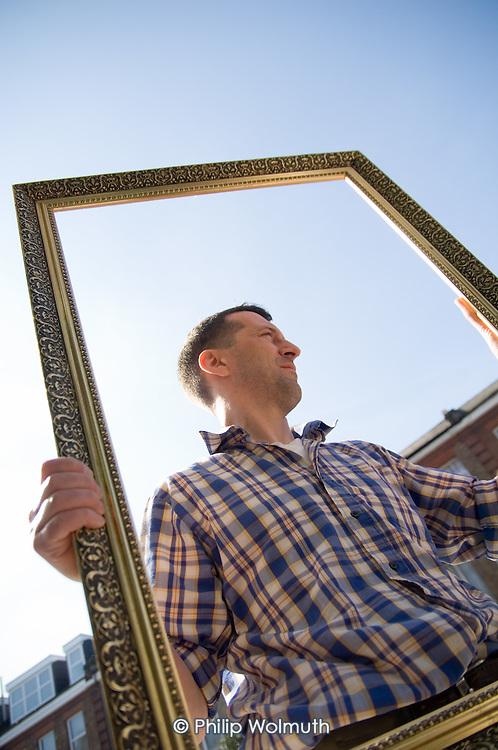 Paul Walsh, who runs Four Corners Framing, a picture framing business on the Harrow Road, West London.