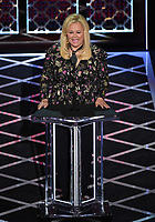 """BEVERLY HILLS - SEPTEMBER 7: Caroline Rhea appears onstage at the """"Comedy Central Roast of Alec Baldwin"""" at the Saban Theatre on September 7, 2019 in Beverly Hills, California. (Photo by Frank Micelotta/PictureGroup)"""