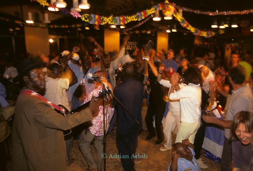 Ali Farka Toure playing the millenium in (2000) Timbuktu. Mali