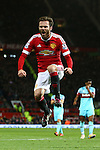 Juan Mata of Manchester United shows his frustration as he sends a shot just wide - Manchester United vs West Ham United - Barclay's Premier League - Old Trafford - Manchester - 05/12/2015 Pic Philip Oldham/SportImage