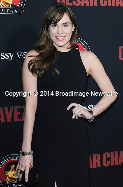 Pictured: Christa B. Allen<br /> Mandatory Credit &copy; Adhemar Sburlati/Broadimage<br /> Film Premiere of Cesar Chavez<br /> <br /> 3/20/14, Hollywood, California, United States of America<br /> <br /> Broadimage Newswire<br /> Los Angeles 1+  (310) 301-1027<br /> New York      1+  (646) 827-9134<br /> sales@broadimage.com<br /> http://www.broadimage.com