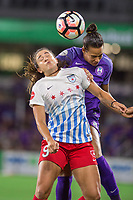 Orlando, FL - Saturday August 05, 2017: Stephanie McCaffrey, Toni Pressley during a regular season National Women's Soccer League (NWSL) match between the Orlando Pride and the Chicago Red Stars at Orlando City Stadium.