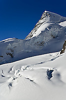 Glacier high in the Alps from Klein Matterhorn, near Zermatt, Switzerland