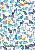 Kate, GIFT WRAPS, GESCHENKPAPIER, PAPEL DE REGALO, paintings+++++Odd one out - cats,GBKM385,#gp#, EVERYDAY