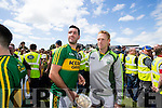 Kerry Captain Bryan Sheehan and Colm Cooper with the cup after defeatingTipperary in the Senior Munster Football Final at Fitzgerald Stadium, Killarney on Sunday.