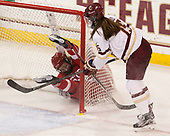 Abby Cook (BU - 9), Erin Connolly (BC - 15) - The Boston College Eagles defeated the visiting Boston University Terriers 5-3 (EN) on Friday, November 4, 2016, at Kelley Rink in Conte Forum in Chestnut Hill, Massachusetts.The Boston College Eagles defeated the visiting Boston University Terriers 5-3 (EN) on Friday, November 4, 2016, at Kelley Rink in Conte Forum in Chestnut Hill, Massachusetts.