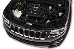 Car Stock 2016 JEEP Grand-Cherokee Overland 5 Door Suv Engine  high angle detail view