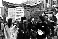 March 8, 1983 file photo - Montreal, Quebec, CANADA - Women international Day parade