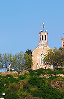 The chapel on the hill behind the Roman theatre, called Mont Pipet from which you have a splendid view over the whole area.  Vienne, Isère Isere, France, Europe
