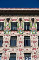Europe/Autriche/Niederösterreich/Vienne:La Majolikahaus - Maison des Majoliques -  Immeuble construit  par Otto Wagner sur la Linke Wienzeile et dominant le Naschmarkt -centre historique classé Patrimoine Mondial de l'UNESCO,