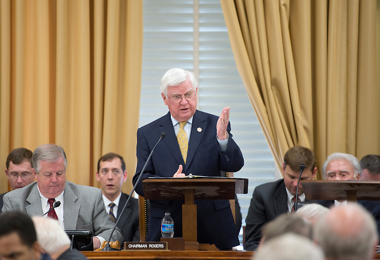 UNITED STATES - MAY 17: Chairman Hal Rogers, R-Ky., speaks during the House Appropriations Committee markup of the FY2013 Defense Appropriation bill and the FY2013 State, Foreign Operations, and Related Programs Appropriations bill on Thursday, May 17, 2012. (Photo By Bill Clark/CQ Roll Call)
