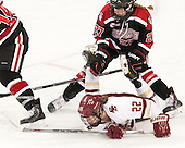 Maddie Hartman (NU - 27), Haley Skarupa (BC - 22) - The Boston College Eagles defeated the Northeastern University Huskies 5-1 (EN) in their NCAA Quarterfinal on Saturday, March 12, 2016, at Kelley Rink in Conte Forum in Boston, Massachusetts.