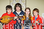 Zach, Christy, Tova and Naoise Buckley playing the tunes at the Killarney School of Music annual concert in the Malton Hotel on Saturday night..