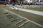 EASTON, MA - NOVEMBER 20:  LIU Post warms up before their game against Shippensburg University in the NCAA Division II Field Hockey Championship at WB Mason Stadium on November 20, 2016 in Easton, Massachusetts.  Shippensburg University defeated LIU Post 2-1 for the national title. (Photo by Winslow Townson/NCAA Photos via Getty Images)