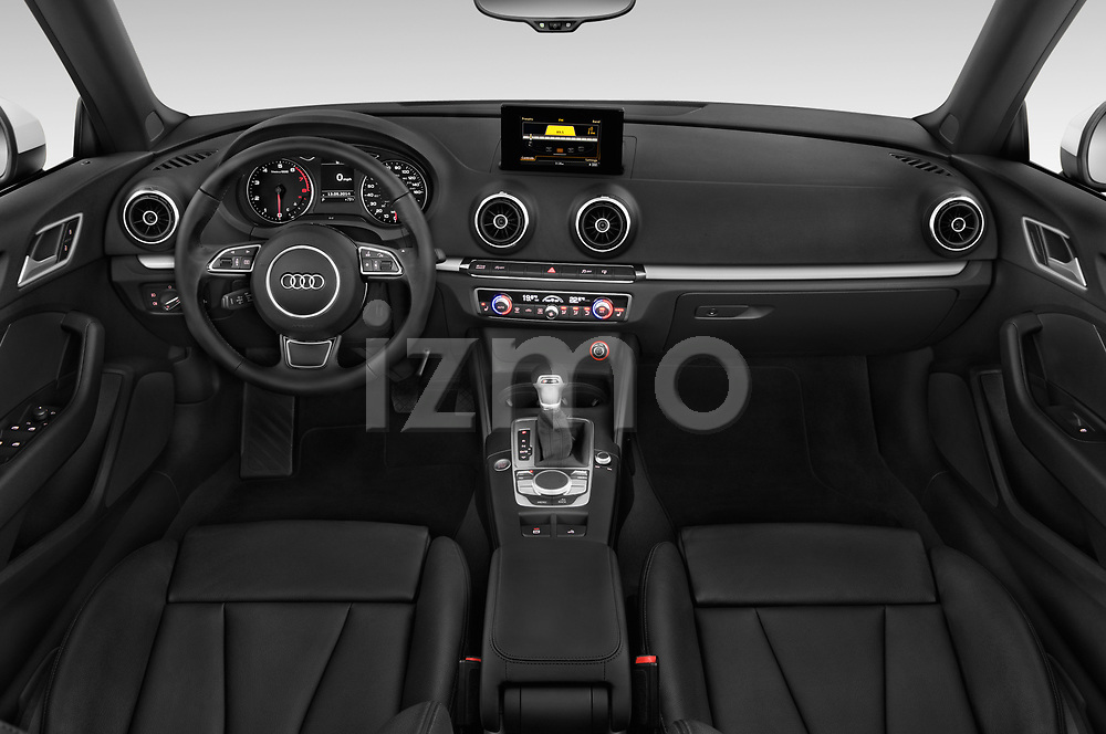 Stock photo of straight dashboard view of 2015 Audi A3 2.0T quattro S tronic Premium 2 Door Convertible