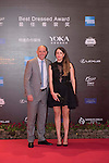 Gary McAllister and his wife walk the Red Carpet event at the World Celebrity Pro-Am 2016 Mission Hills China Golf Tournament on 20 October 2016, in Haikou, China. Photo by Weixiang Lim / Power Sport Images
