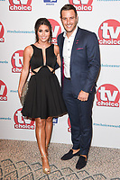 Sadie Stewart and Elliot Wright<br /> arriving for the TV Choice Awards 2017 at The Dorchester Hotel, London. <br /> <br /> <br /> ©Ash Knotek  D3303  04/09/2017