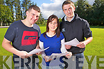 Christopher Casey and Denise O'Connor from Brosna with Mark Harnett from Tournafulla who received their Leaving Certificate Results on Thursday in the Vocational School, Abbeyfeale.