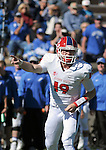 October 24, 2015 - Colorado Springs, Colorado, U.S. - Fresno State quarterback, Kilton Anderson #19, calls signals during the NCAA Football game between the Fresno State Bulldogs and the Air Force Academy Falcons at Falcon Stadium, U.S. Air Force Academy, Colorado Springs, Colorado.  Air Force defeats Fresno State 42-14.
