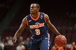 March 8, 2014; Las Vegas, NV, USA; Pepperdine Waves guard Jeremy Major (3) dribbles the basketball against the St. Mary's Gaels during the second half of the WCC Basketball Championships at Orleans Arena.