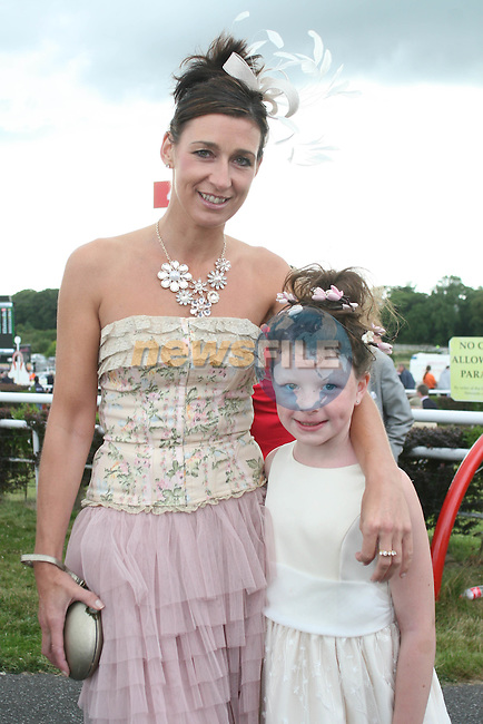 Best Dressed Lady Finalist Camilla Griffin with Eva Finnegan from Bettystown at the Bellewstown Races...Photo NEWSFILE/Jenny Matthews.(Photo credit should read Jenny Matthews/NEWSFILE)....This Picture has been sent you under the condtions enclosed by:.Newsfile Ltd..The Studio,.Millmount Abbey,.Drogheda,.Co Meath..Ireland..Tel: +353(0)41-9871240.Fax: +353(0)41-9871260.GSM: +353(0)86-2500958.email: pictures@newsfile.ie.www.newsfile.ie.FTP: 193.120.102.198.