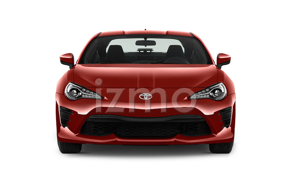 Car photography straight front view of a 2017 Toyota 86 Automatic 2 Door Coupe Front View