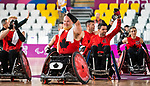 Lima, Peru -  23/August/2019 -   Canada in action as Canada takes on Argentina in wheelchair rugby at the Parapan Am Games in Lima, Peru. Photo: Dave Holland/Canadian Paralympic Committee.