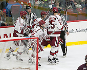 Brayden Jaw (Harvard - 10), Michael Floodstrand (Harvard - 44), Seb Lloyd (Harvard - 15), Wiley Sherman (Harvard - 25) -  - The Harvard University Crimson defeated the visiting Colgate University Raiders 7-4 (EN) on Saturday, February 20, 2016, at Bright-Landry Hockey Center in Boston, Massachusetts.