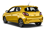 Car pictures of rear three quarter view of 2020 Mitsubishi Space-Star Diamond-Edition 5 Door Hatchback Angular Rear