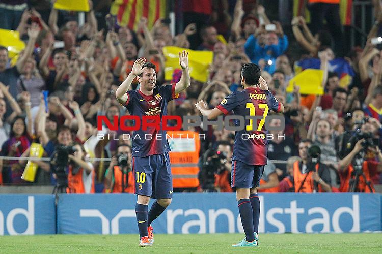 07.10.2012, Camp Nou, Spanien, Primera División, FC Barcelona vs Real Madrid im Bild  Barcelona's Lionel Messi goal during la Liga match on october 7th 2012.  Foto © nph / Cesar Cebola *** Local Caption ***