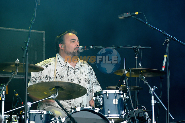 The Fun Lovin Criminals performing at the Oxegen Music Festival  2009 Punchestown Race Course, Kildare, Republic of Ireland. Photo: Colin Bell/Newsfile