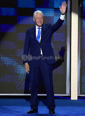 Former United States President Bill Clinton arrives to make remarks during the second session of the 2016 Democratic National Convention at the Wells Fargo Center in Philadelphia, Pennsylvania on Tuesday, July 26, 2016.<br /> Credit: Ron Sachs / CNP/MediaPunch<br /> (RESTRICTION: NO New York or New Jersey Newspapers or newspapers within a 75 mile radius of New York City)