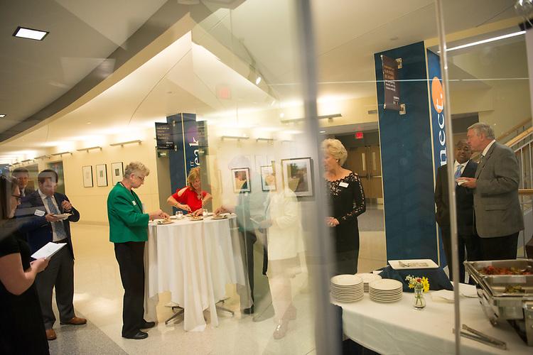 Schoonover Center, Tour, Opening Reception, President Dwayne Nellis, Interim President David Descutner, President Roderick McDavis, Scripps College of Communications, University Advancement, Steve Schoonover, Ohio University Foundation Board of Trustees