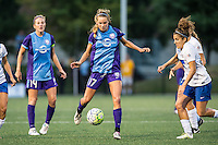 Allston, MA - Sunday July 31, 2016: Becky Edwards, Dani Weatherholt, Angela Salem during a regular season National Women's Soccer League (NWSL) match between the Boston Breakers and the Orlando Pride at Jordan Field.