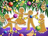 Randy, CHRISTMAS SYMBOLS, WEIHNACHTEN SYMBOLE, NAVIDAD SÍMBOLOS, paintings+++++Gingerbread-Print-Sweet-Decorations,USRW92,#xx# ginger bread