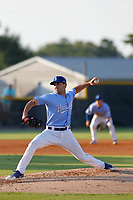 Burlington Royals pitcher Ted Cillis (36) on the mound during a game against the Kingsport Mets at Burlington Athletic Complex on July 28, 2018 in Burlington, North Carolina. Burlington defeated Kingsport 4-3. (Robert Gurganus/Four Seam Images)