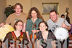 Talented musicians keeping the toes tapping at the Gathering festival in the INEC on Saturday night were l-r: Ronan O'Caoimh, Jessica Keane, Caty Cook, Grainne Stafford and Paul Culbert   Copyright Kerry's Eye 2008