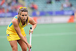 The Hague, Netherlands, June 05: Georgie Parker #19 of Australia looks on during the field hockey group match (Women - Group A) between Belgium and Australia on June 5, 2014 during the World Cup 2014 at Kyocera Stadium in The Hague, Netherlands. Final score 2:3 (1:1) (Photo by Dirk Markgraf / www.265-images.com) *** Local caption ***