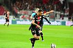 Leverkusener Karim Bellarabi zum 0:4  beim Spiel in der Fussball Bundesliga, 1. FSV Mainz 05 - Bayer 04 Leverkusen (dunkel).<br /> <br /> Foto &copy; PIX-Sportfotos *** Foto ist honorarpflichtig! *** Auf Anfrage in hoeherer Qualitaet/Aufloesung. Belegexemplar erbeten. Veroeffentlichung ausschliesslich fuer journalistisch-publizistische Zwecke. For editorial use only. DFL regulations prohibit any use of photographs as image sequences and/or quasi-video.