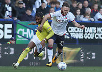 Blackburn Rovers' Kasey Palmer and Bolton Wanderers' Jonathan Grounds<br /> <br /> Photographer Rachel Holborn/CameraSport<br /> <br /> The EFL Sky Bet Championship - Bolton Wanderers v Blackburn Rovers - Saturday 6th October 2018 - University of Bolton Stadium - Bolton<br /> <br /> World Copyright &copy; 2018 CameraSport. All rights reserved. 43 Linden Ave. Countesthorpe. Leicester. England. LE8 5PG - Tel: +44 (0) 116 277 4147 - admin@camerasport.com - www.camerasport.com