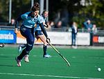 Laren - Maxime Kerstholt (Lar) , tijdens de Livera hoofdklasse  hockeywedstrijd dames, Laren-Oranje Rood (1-3). . COPYRIGHT KOEN SUYK