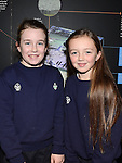 Áine Farrell and Kelsey Cudden pictured at the 1st Group Investiture of Beavers, Cubs, Scouts & Scouters into new 22nd Meath Scout Group at Brú na Bóinne Donore. Photo: Colin Bell/pressphotos.ie
