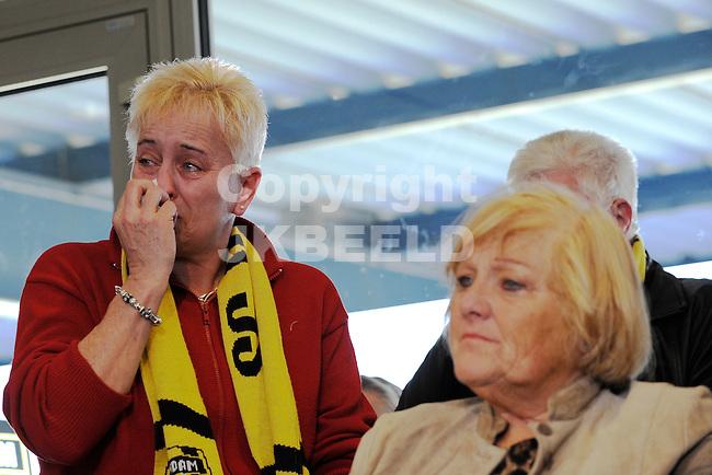 VEENDAM - Voetbal, SC Veendam heeft het faillisement aangevraagd van de club. Tijdens een persconferentie gaf bewindvoerder Gerard Breuker een toelichting 25-03-2013, veel verdriet bij de fans van Veendam.