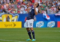 Chicago, IL - Sunday July 28, 2013:  United States forward Landon Donovan (10) shows his frustration after a play during the CONCACAF Gold Cup Finals soccer match between the USMNT and Panama, at Soldier Field in Chicago, IL.