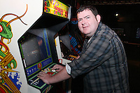 NO REPRO FEE. 20/9/2010. Game On Exhibition.  Barry Dunne from 98fm is pictured at the opening of the Game On Exhibition at Dublin's Ambassador Theatre. Game On is an action packed gaming exhibition with fun for all the family. Enjoy a totally interactive experience with rare memorabilia and play your way through over 120 playable games from the arcade classics to the latest releases. Now running at the Ambassador Theatre for a limited run. Tickets from 10 euro including booking fee on sale now See Ticketmaster.ie and Gameon-Dublin.ie for family and group discounts plus more details. Picture James Horan/Collins Photos