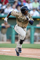 Cedric Hunter #12 of the Tucson Padres plays in a Pacific Coast League game against the Salt Lee Bees at Kino Stadium on April 17, 2011  in Tucson, Arizona. .Photo by:  Bill Mitchell/Four Seam Images.