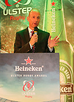 Thursday 10th May 2018 | Ulster Rugby Awards 2018<br /> <br /> Stephen Watson was MC during the 2018 Heineken Ulster Rugby Awards at La Mom Hotel, Belfast. Photo by John Dickson / DICKSONDIGITAL